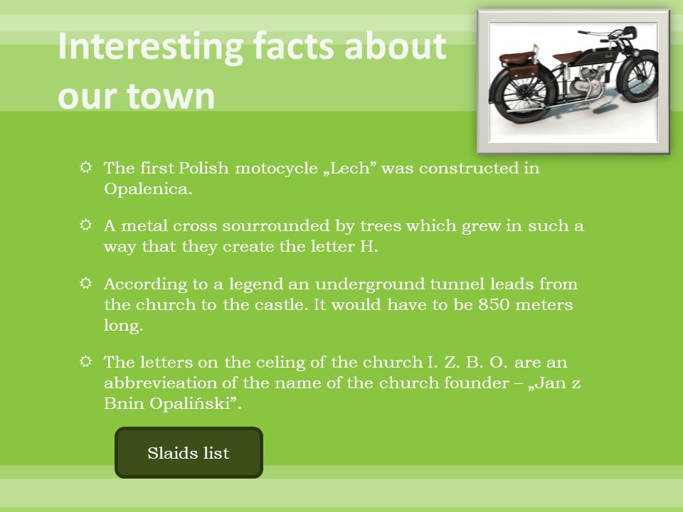 Interesting facts about our town