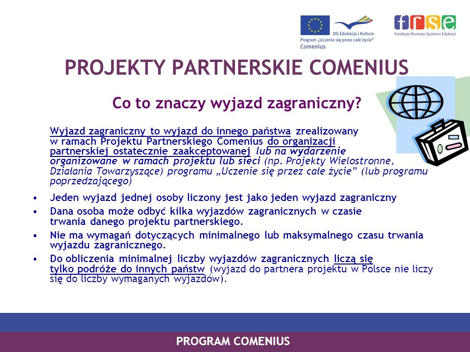 PROJEKTY PARTNERSKIE COMENIUS