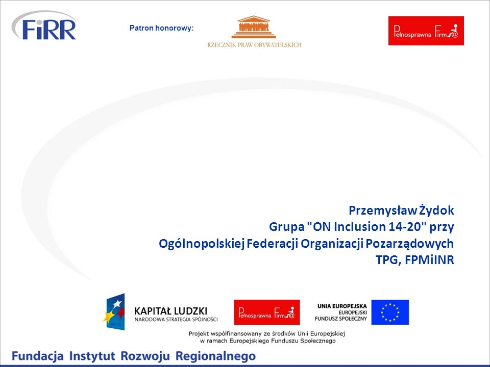 Grupa ON Inclusion przy