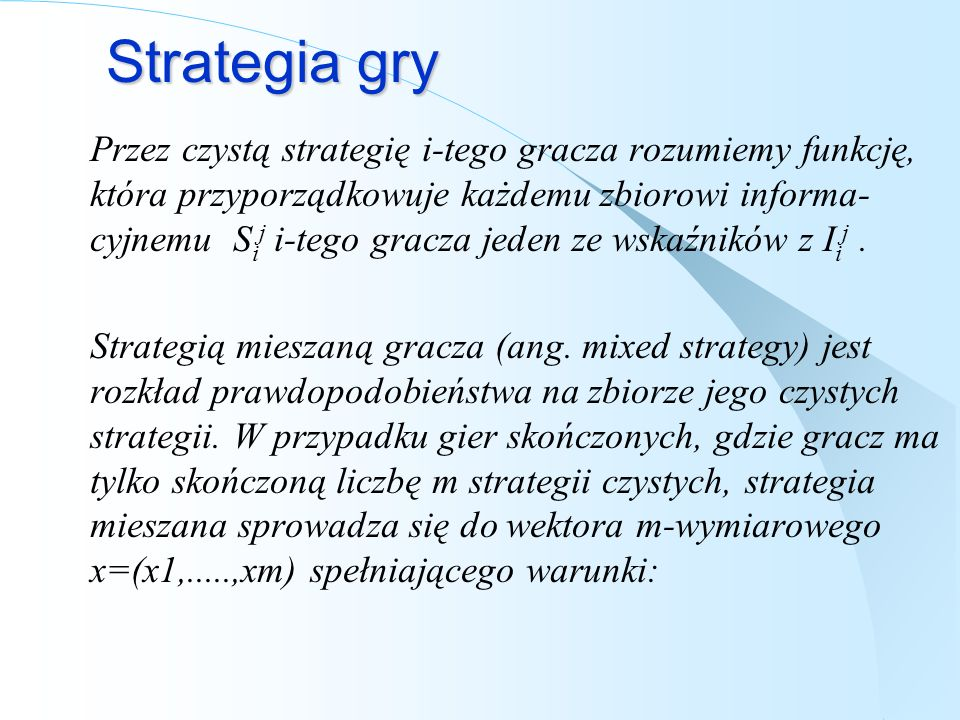 Strategia gry