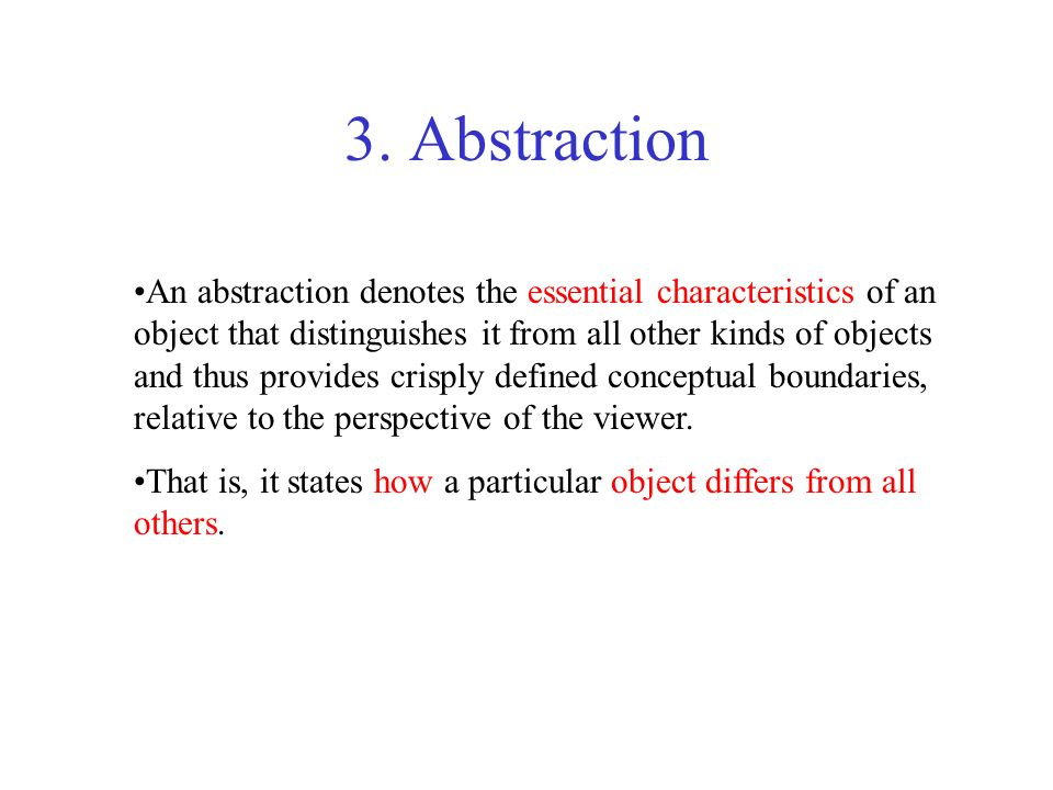 3. Abstraction