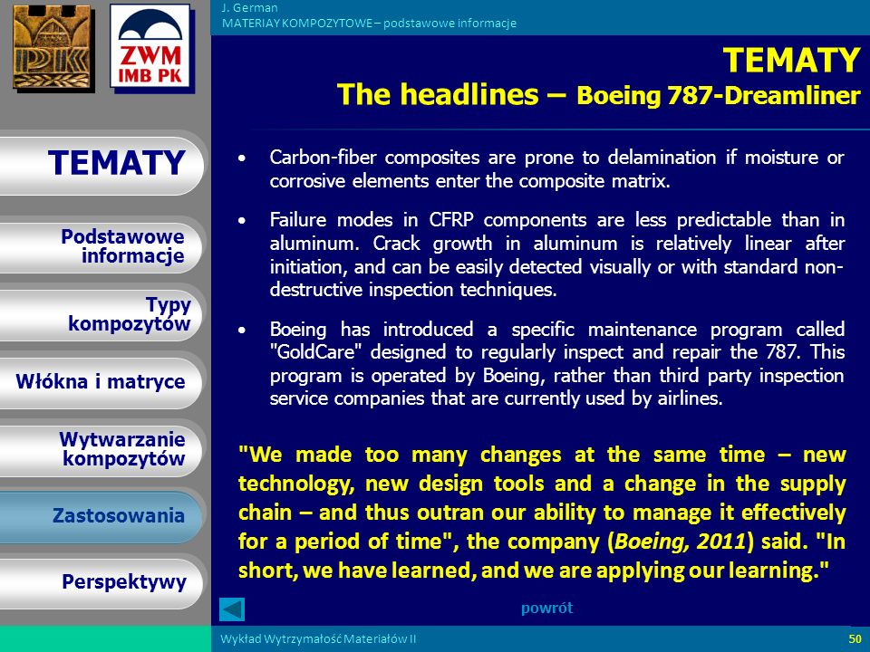 TEMATY The headlines – Boeing 787-Dreamliner
