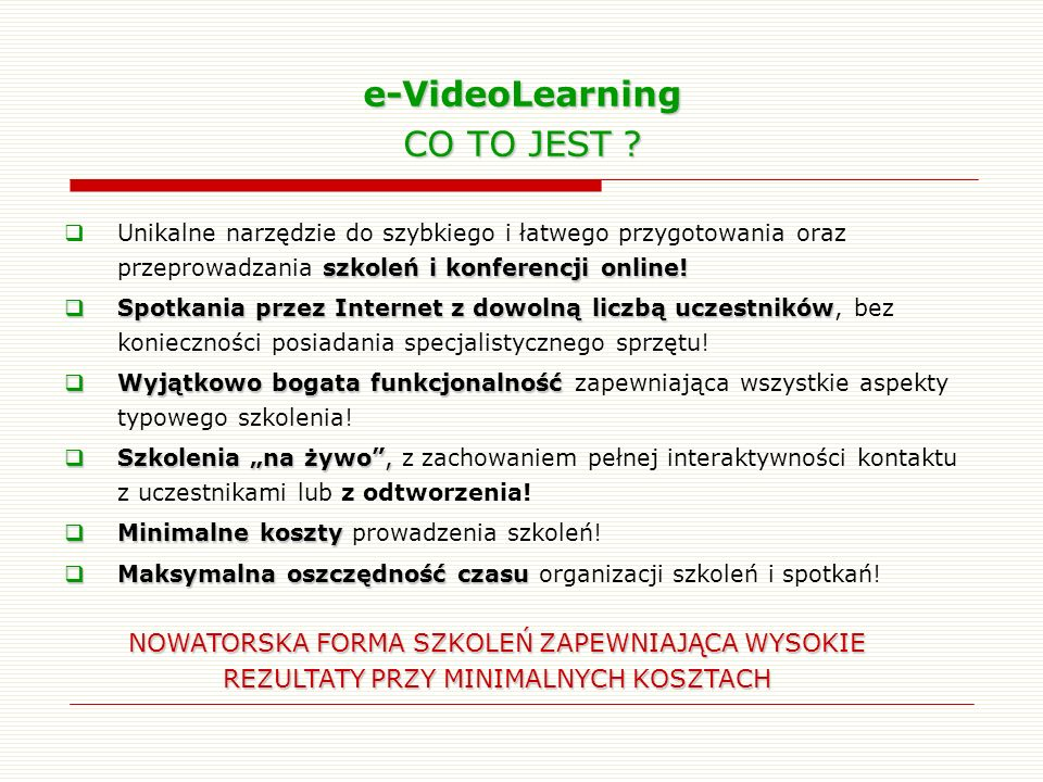 e-VideoLearning CO TO JEST