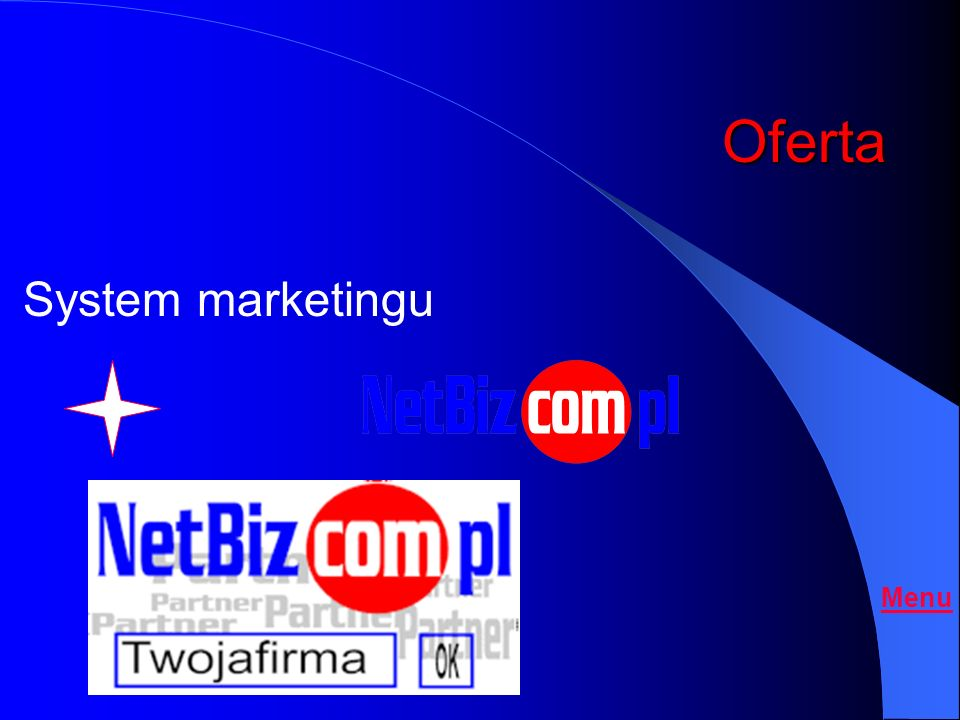 Oferta System marketingu Menu