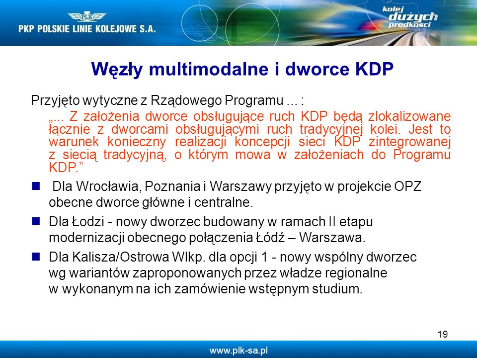 Węzły multimodalne i dworce KDP