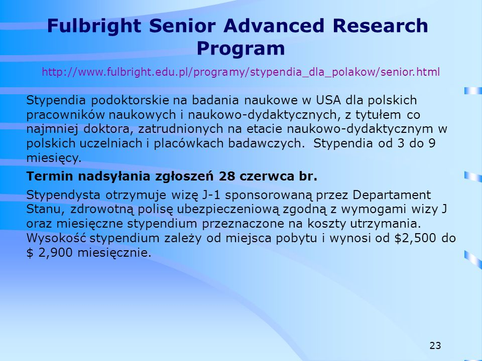Fulbright Senior Advanced Research