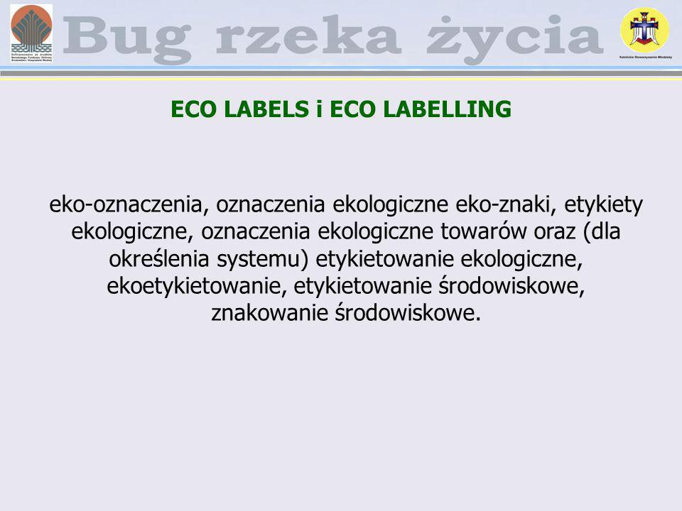 ECO LABELS i ECO LABELLING