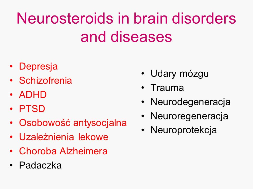 Neurosteroids in brain disorders and diseases
