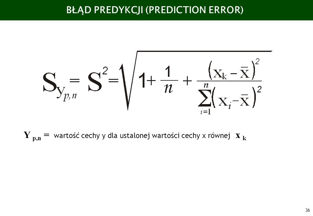 BŁĄD PREDYKCJI (PREDICTION ERROR)