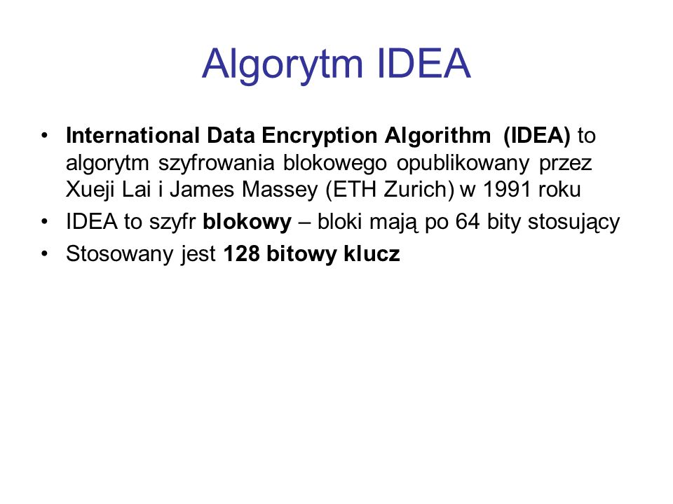 Algorytm IDEA