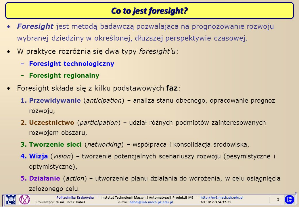 Co to jest foresight