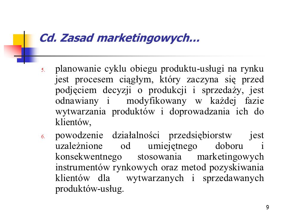 Cd. Zasad marketingowych...