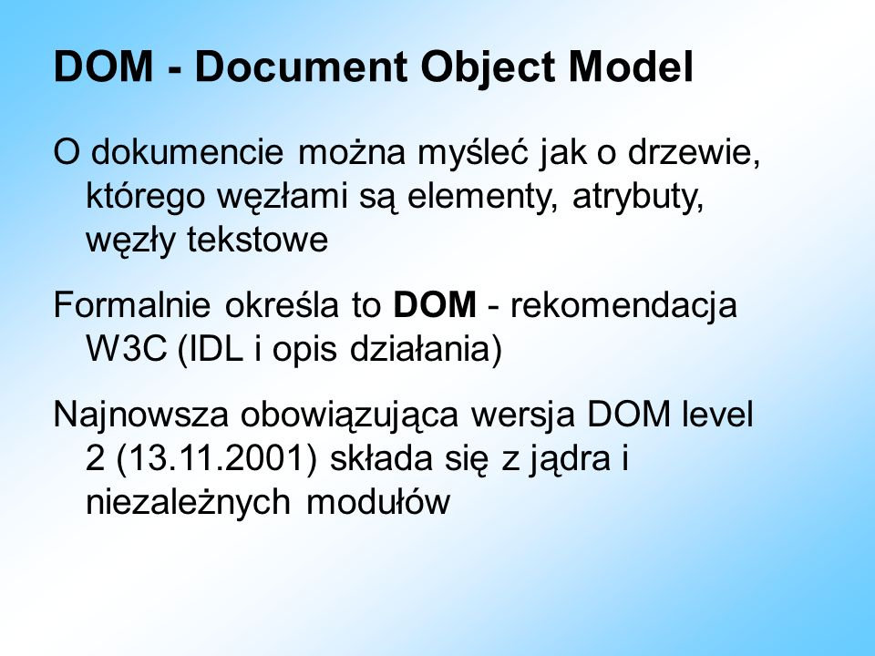 DOM - Document Object Model