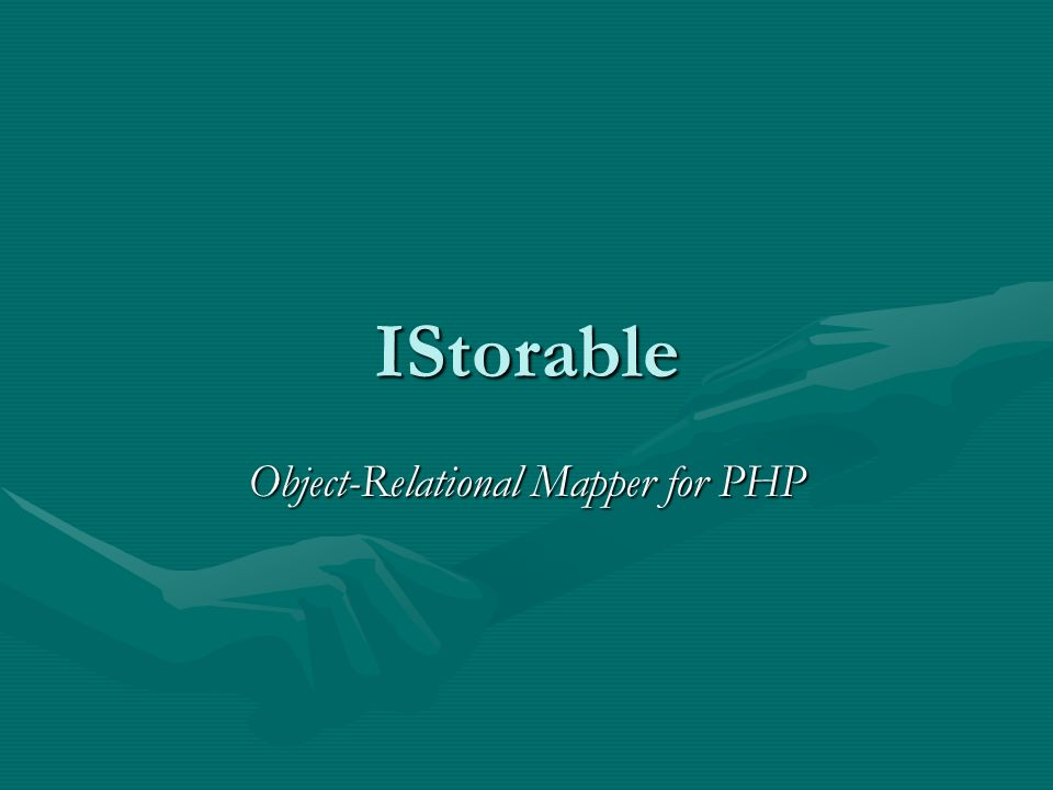Object-Relational Mapper for PHP