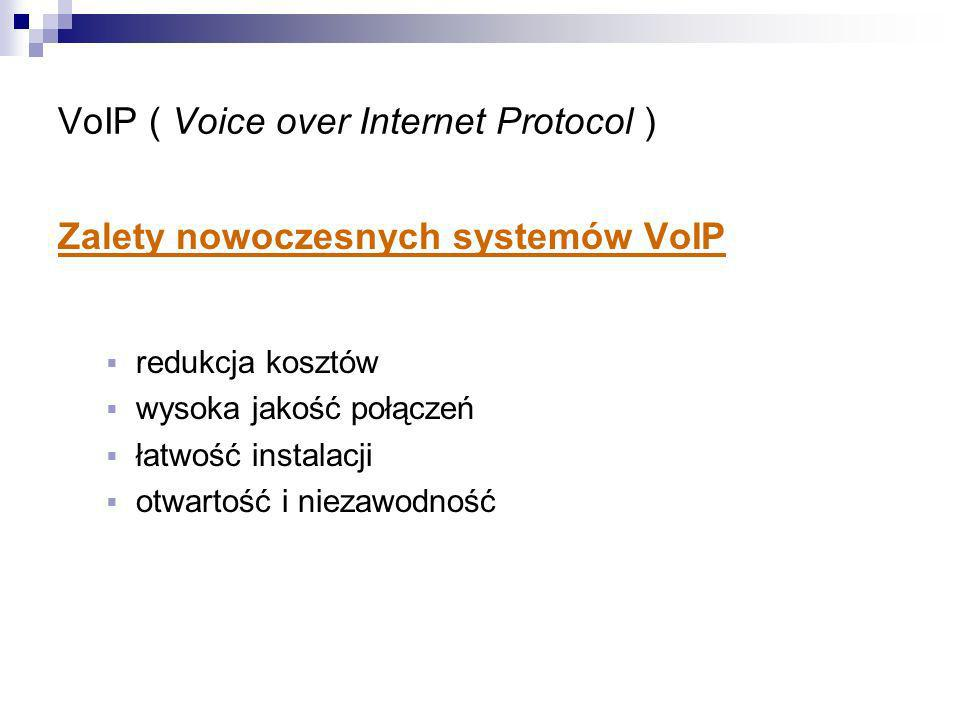 VoIP ( Voice over Internet Protocol )