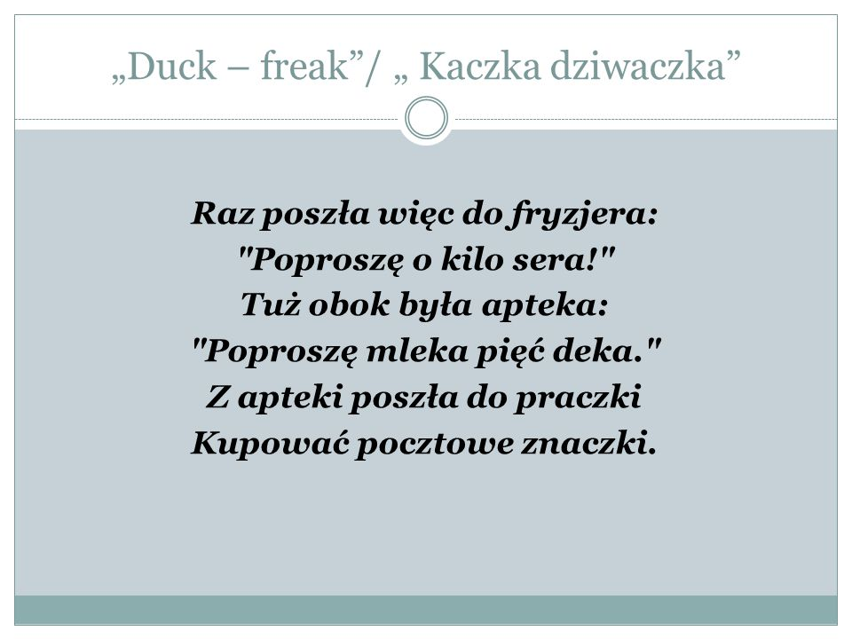 Duck Freak Kaczka Dziwaczka Ppt Pobierz