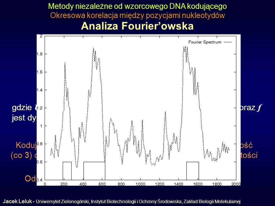 Analiza Fourier'owska (Fourier analysis)