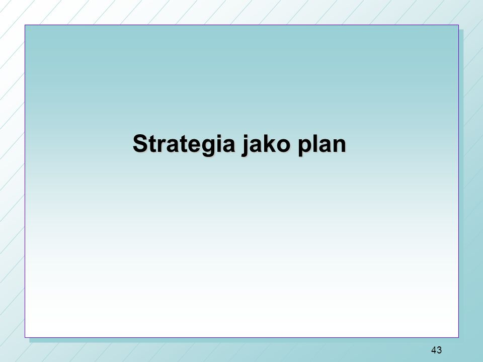 Strategia jako plan