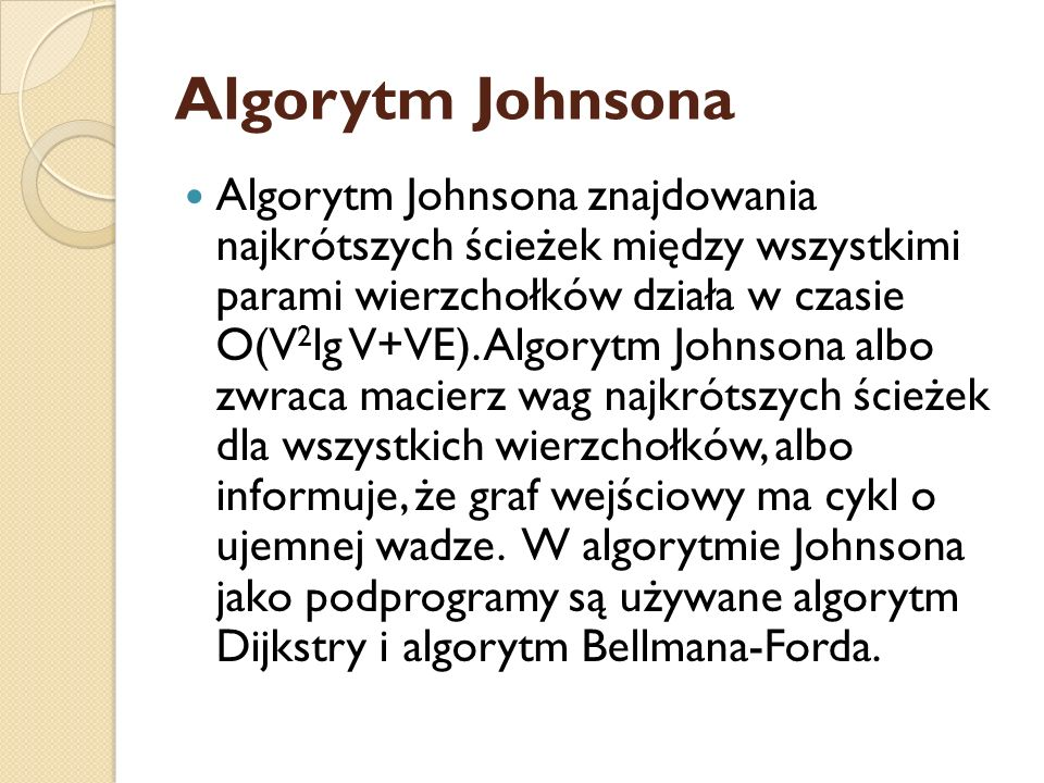Algorytm Johnsona
