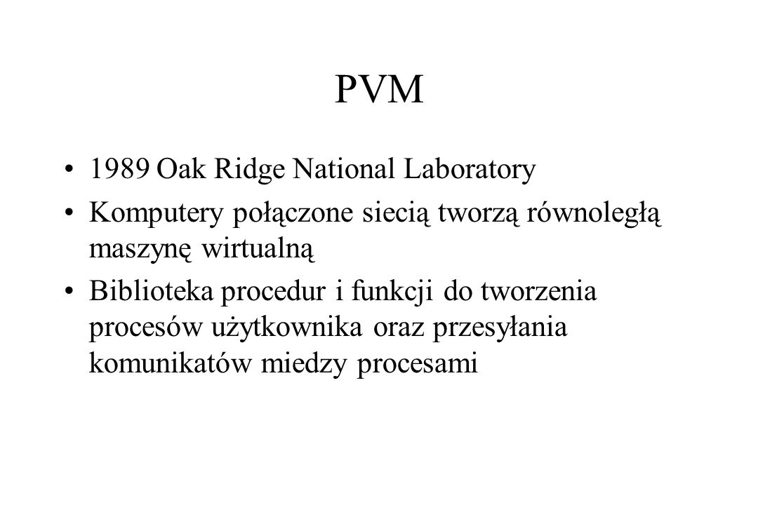 PVM 1989 Oak Ridge National Laboratory