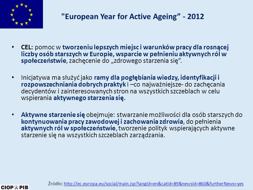European Year for Active Ageing