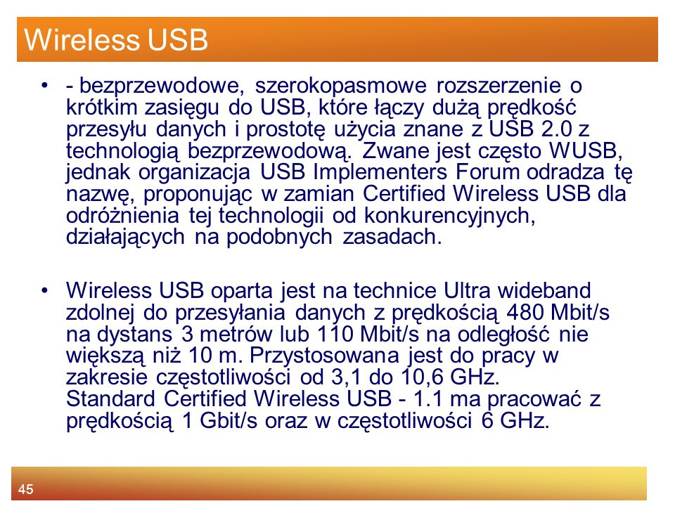 Wireless USB