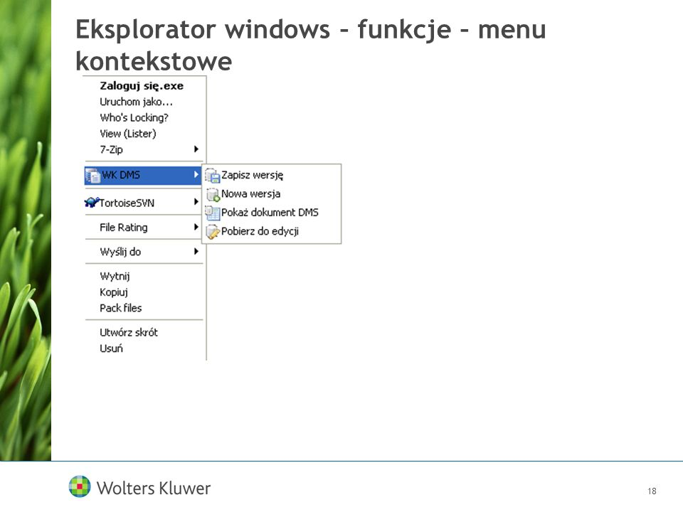 Eksplorator windows – funkcje – menu kontekstowe