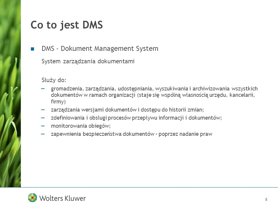 Co to jest DMS DMS - Dokument Management System