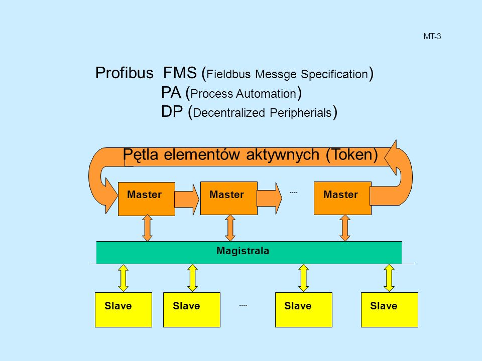 Profibus FMS (Fieldbus Messge Specification) PA (Process Automation)