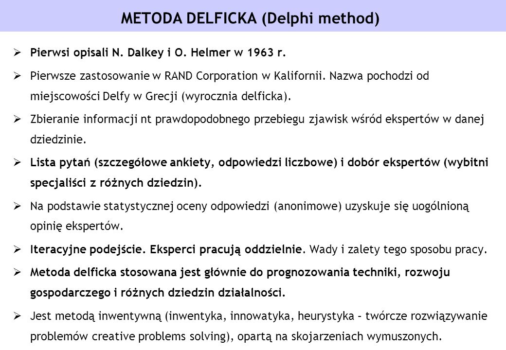 METODA DELFICKA (Delphi method)