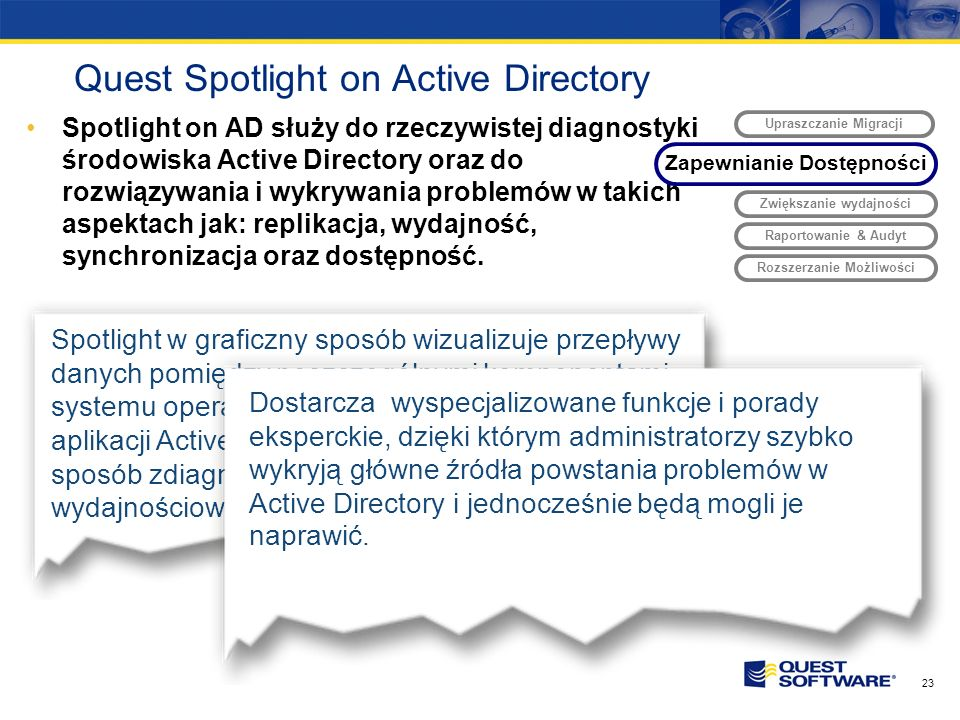 Quest Spotlight on Active Directory