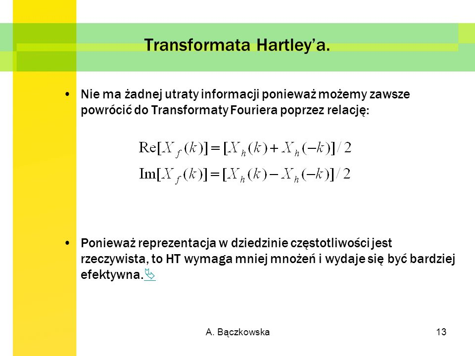 Transformata Hartley'a.