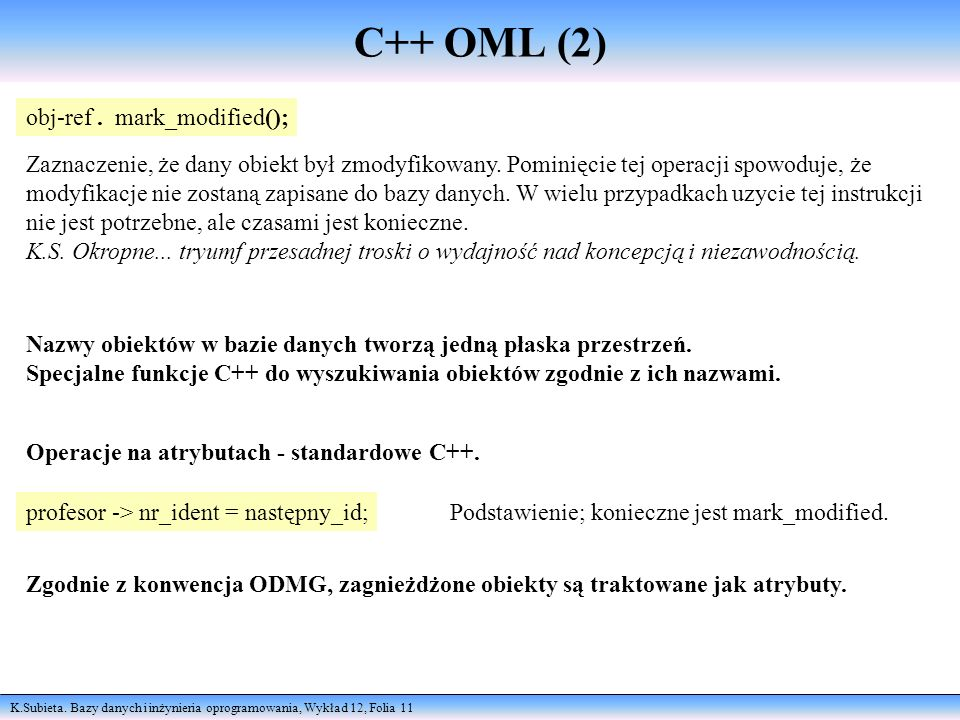 C++ OML (2) obj-ref . mark_modified();