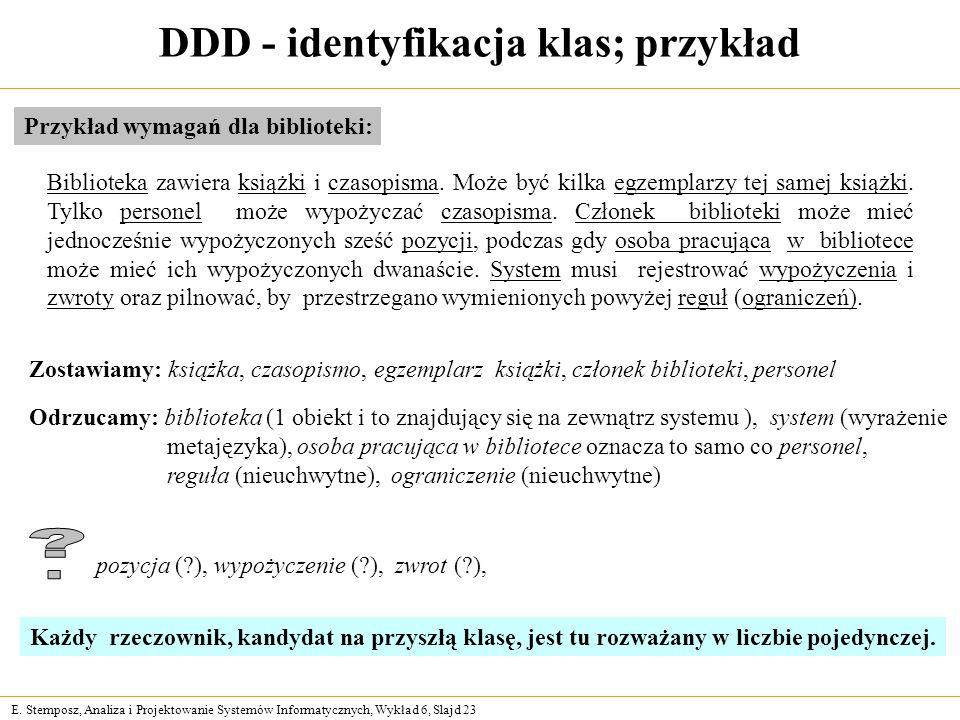 Projektowanie systemw informacyjnych ppt pobierz ddd identyfikacja klas przykad ccuart Choice Image