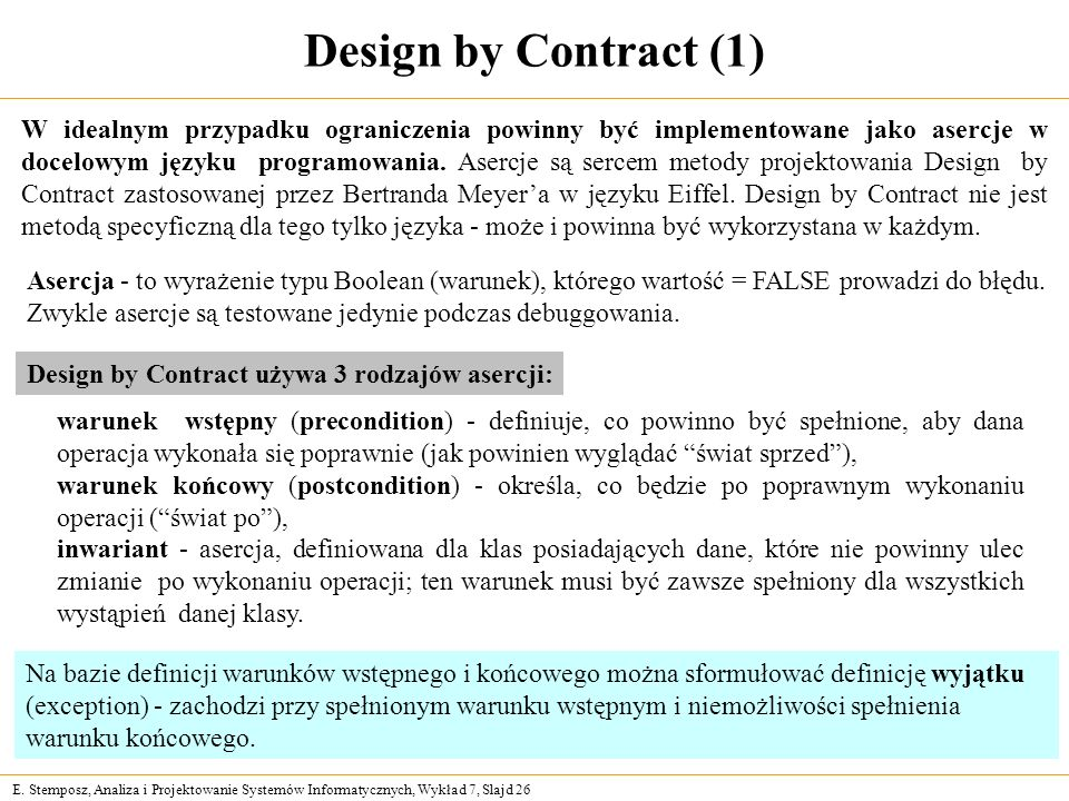 Design by Contract (1)