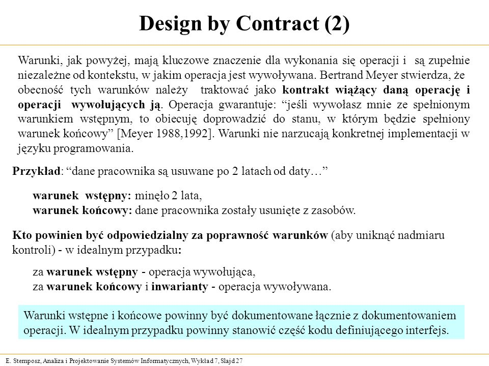 Design by Contract (2)