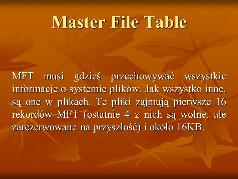 Master File Table