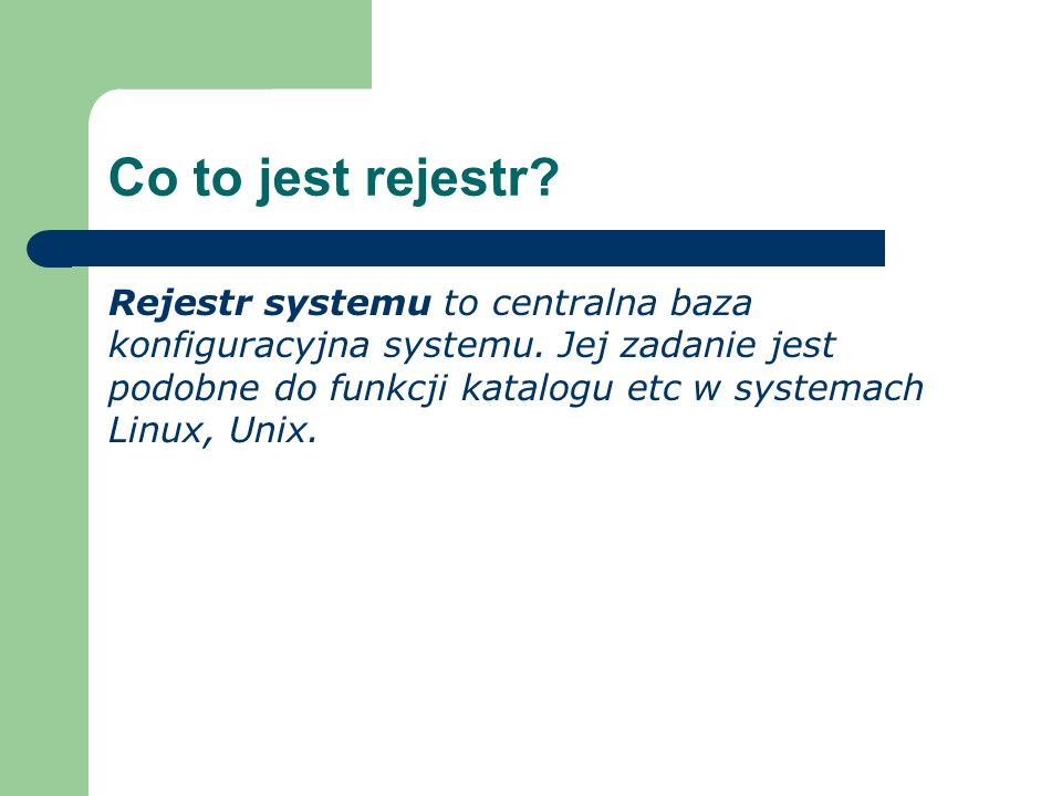 Co to jest rejestr