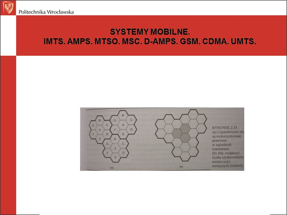 SYSTEMY MOBILNE. IMTS. AMPS. MTSO. MSC. D-AMPS. GSM. CDMA. UMTS.