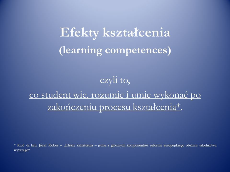 (learning competences)