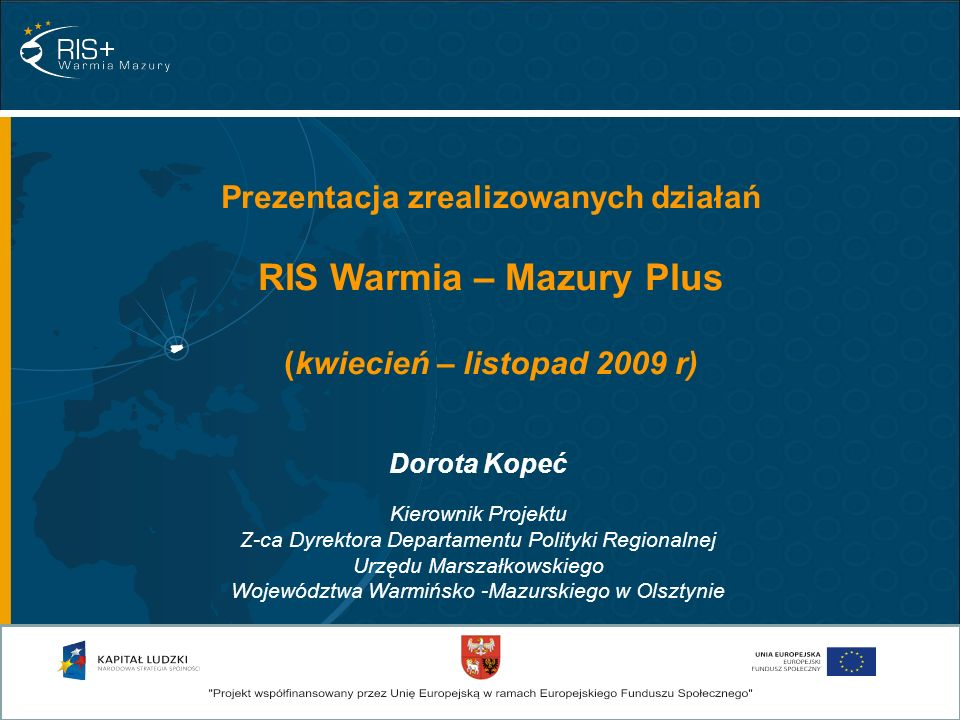 RIS Warmia – Mazury Plus