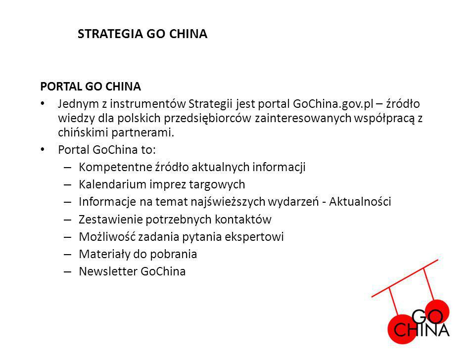 STRATEGIA GO CHINA PORTAL GO CHINA