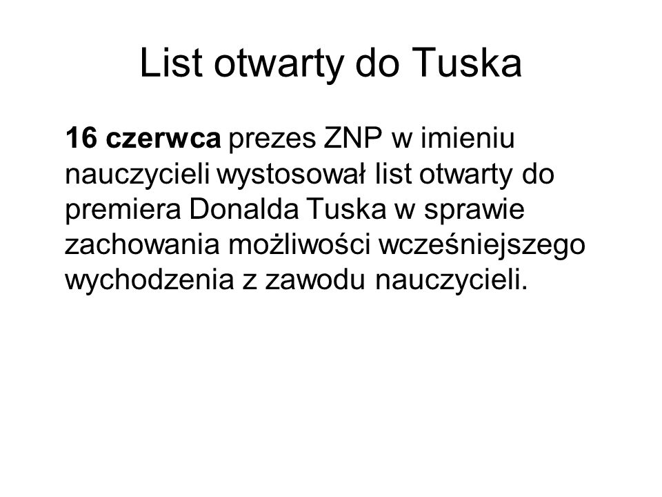 List otwarty do Tuska