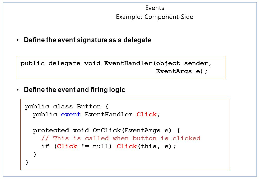 Events Example: Component-Side