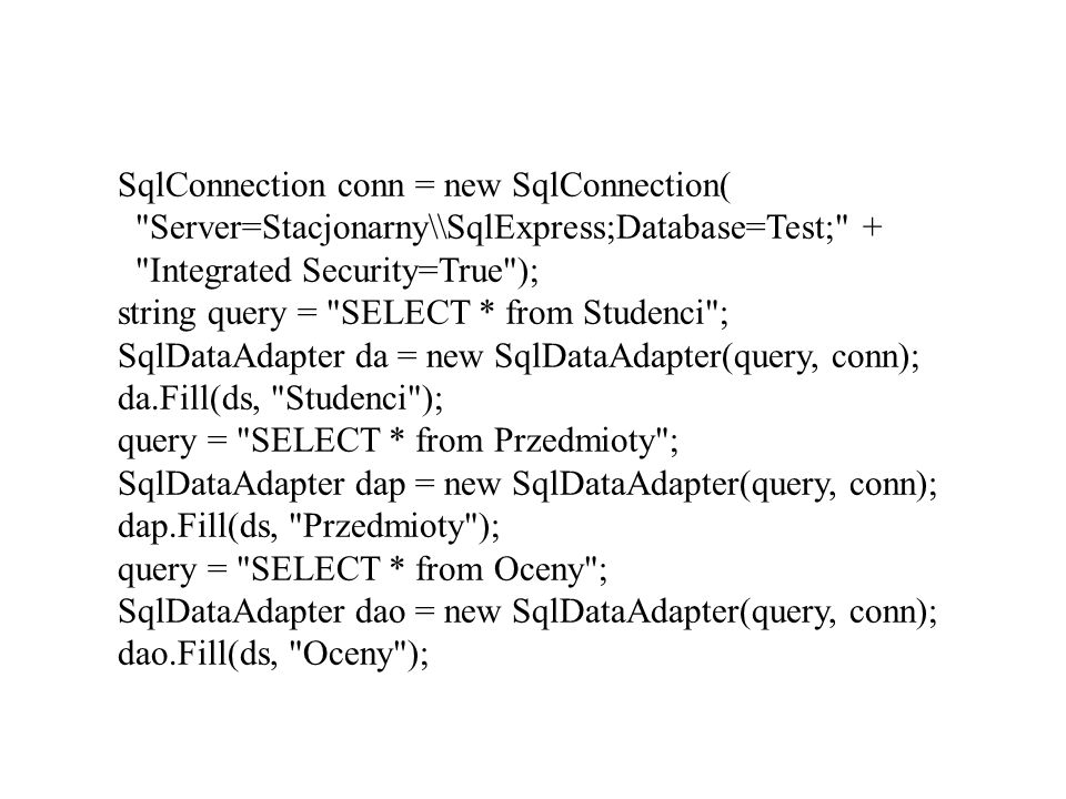 SqlConnection conn = new SqlConnection(