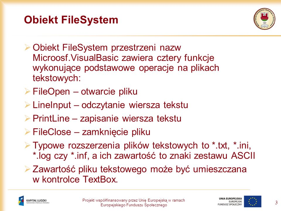 Obiekt FileSystem
