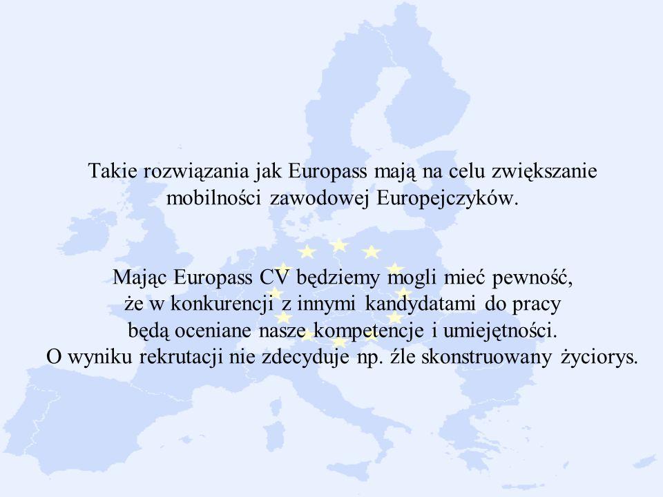 europejskie curriculum vitae