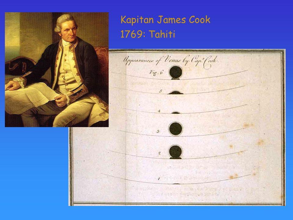 Kapitan James Cook 1769: Tahiti