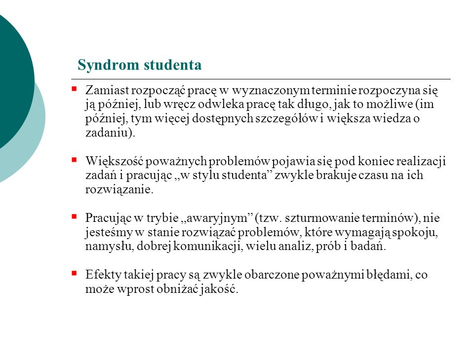 Syndrom studenta