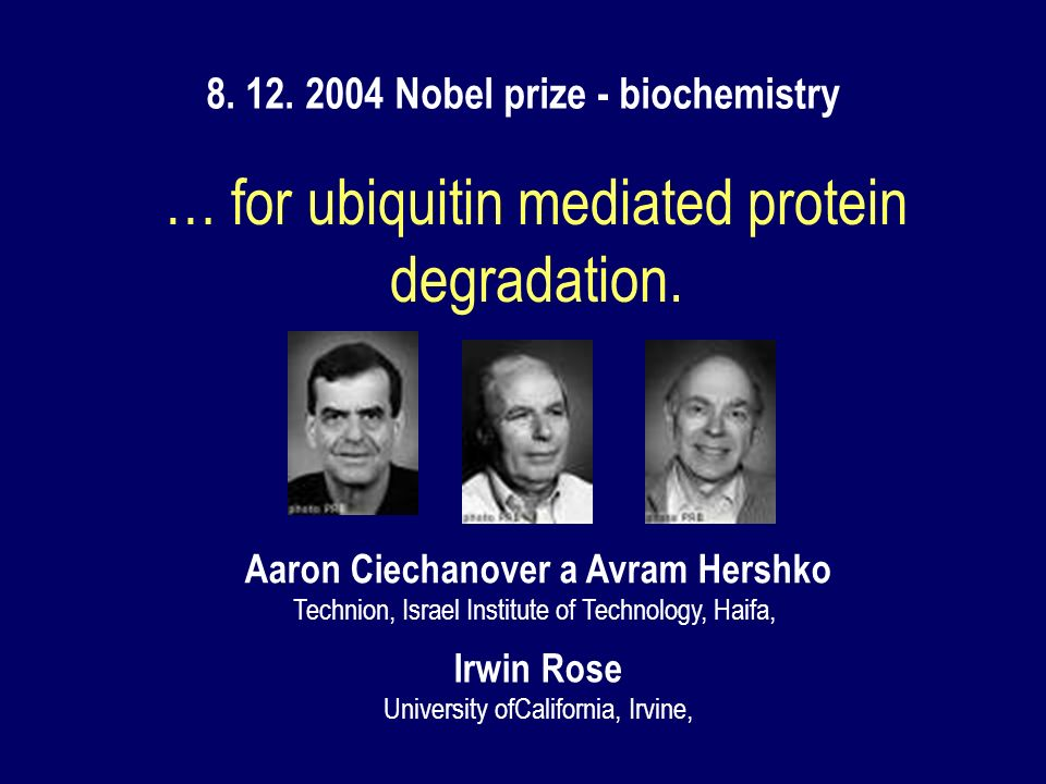 … for ubiquitin mediated protein degradation.